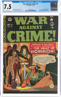 War Against Crime #11 (EC, 1950) CGC VF- 7.5 White pages