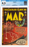 Golden Age (1938-1955):Humor, MAD #10 (EC, 1954) CGC VG+ 4.5 White pages....
