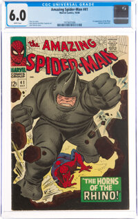 The Amazing Spider-Man #41 (Marvel, 1966) CGC FN 6.0 White pages