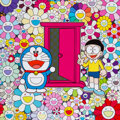 Prints & Multiples, Takashi Murakami (b. 1962). Anywhere Door (Dokodemo Door) in the Field of Flowers, 2018. Offset lithograph in colors on ...