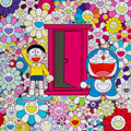 Prints & Multiples, Takashi Murakami (b.1962). We Came to the Field of Flowers Through the Anywhere Door (Dokodemo Door), 2018. Offset litho...