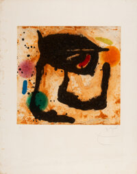 Joan Miró (Spanish, 1893-1983) Le Dandy, 1969 Etching and aquatint in colors with carborundum on Man