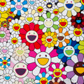 Prints & Multiples, Takashi Murakami (b. 1962). Flowers Blossoming in This World and Land of Nirvana, 2013. Offset lithograph in colors on s...