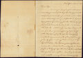 Colonial Notes:Mixed Colonies, Autographed Letter from Caesar A. Rodney to his Father, Thomas Rodney. Nov. 26, 1787. Not graded.. ...