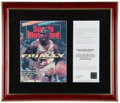 Basketball Collectibles:Publications, 1991 Michael Jordan UDA Signed Sports Illustrated Magazine Display. ...