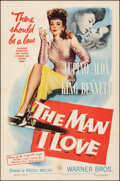 """Movie Posters:Crime, The Man I Love (Warner Bros., 1947). Folded, Very Fine-. One Sheet (27"""" X 41""""). Crime.. ..."""
