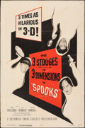 """Movie Posters:Comedy, The Three Stooges in Spooks! (Columbia, 1953). Folded, Fine+. One Sheet (27"""" X 41"""") 3-D Style. Comedy.. ..."""