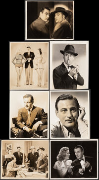 """The Falcon's Brother & Other Lot (RKO, 1942). Fine+ on Linen. Keybook Photos (15) (Approx. 8"""" X 10""""). Myst..."""