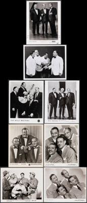 """Mills Brothers Lot (Various, 1940s-1960s). Very Fine-. Photos (8) (8"""" X 10""""). Miscellaneous. ... (Total: 8 Ite..."""