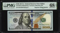 Small Size:Federal Reserve Notes, Repeater Serial Number 76557655 Fr. 2189-K $100 2017A Federal Reserve Note. PMG Superb Gem Unc 68 EPQ.. ...