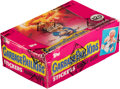 """Non-Sport Cards:Unopened Packs/Display Boxes, 1986 Topps """"Garbage Pail Kids"""" Sticker Series 1 (UK) Wax Box With 48 Unopened Packs. ..."""