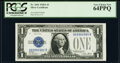 Fancy Serial Number 89990988 Fr. 1601 $1 1928A Silver Certificate. PCGS Very Choice New 64PPQ
