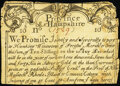 Province of New Hampshire Merchants' Note December 25, 1734 10s Good-Very Good