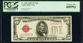 Small Size:Legal Tender Notes, Fr. 1528 $5 1928C Mule Legal Tender Note. G-A Block. PCGS ...