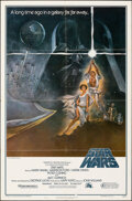 """Movie Posters:Science Fiction, Star Wars (20th Century Fox, 1977). Folded, Fine/Very Fine. First Printing One Sheet (27"""" X 41"""") Style A, Tom Jung Artwork. ..."""