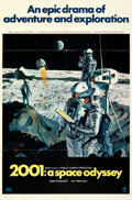 """Movie Posters:Science Fiction, 2001: A Space Odyssey (MGM, 1968). Folded, Very Fine. One Sheet (27"""" X 41"""") Style B, Robert McCall Artwork.. ..."""