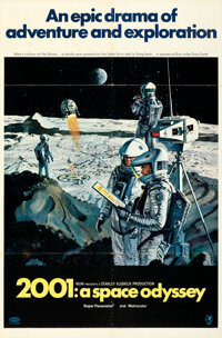 """2001: A Space Odyssey (MGM, 1968). Folded, Very Fine. One Sheet (27"""" X 41"""") Style B, Robert McCall Artwork..."""