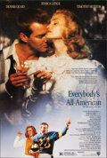 """Movie Posters:Sports, Everybody's All American & Other Lot (Warner Bros., 1988). Folded, Very Fine. One Sheet (27"""" X 40"""") SS & Poster (15.7..."""