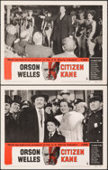 """Movie Posters:Drama, Citizen Kane (RKO, R-1956). Overall: Very Fine+. Lobby Cards (2) (11"""" X 14""""). Drama.. ... (Total: 2 Items)"""