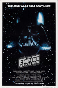 """The Empire Strikes Back (20th Century Fox, 1980). Folded, Very Fine+. One Sheet (27"""" X 41"""") Advance Style. Sci..."""