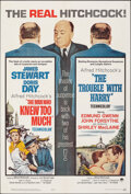 """Movie Posters:Hitchcock, The Man Who Knew Too Much/The Trouble With Harry Combo (Paramount, R-1963). Folded, Very Fine-. One Sheet (27"""" X 41""""). Hitch..."""