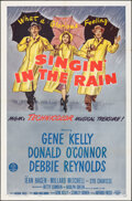 """Movie Posters:Musical, Singin' in the Rain (MGM, R-1962). Folded, Very Fine. One Sheet (27"""" X 41""""). Musical.. ..."""