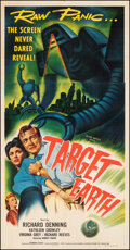 """Movie Posters:Science Fiction, Target Earth (Allied Artists, 1954). Very Fine- on Linen. Three Sheet (41"""" X 79""""). Science Fiction.. ..."""