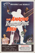 """Movie Posters:Science Fiction, The Amazing Transparent Man (Miller-Consolidated Pictures, 1959). Folded, Very Fine/Near Mint. One Sheet (27"""" X 41""""). Scienc..."""