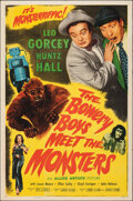 """Movie Posters:Comedy, The Bowery Boys Meet the Monsters (Allied Artists, 1954). Folded, Fine/Very Fine. One Sheet (27"""" X 41""""). Comedy.. ..."""