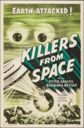 """Movie Posters:Science Fiction, Killers from Space (RKO, 1954). Folded, Very Fine. One Sheet (27"""" X 41""""). Science Fiction.. ..."""