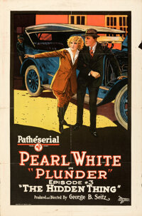 """Plunder (Pathé, 1923). Folded, Fine/Very Fine. One Sheet (27"""" X 41"""") Episode 3 -- """"The Hidden Thin..."""