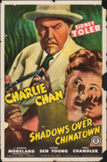 """Movie Posters:Mystery, Shadows over Chinatown (Monogram, 1946). Folded, Fine. One Sheet (27"""" X 41""""). Mystery.. ..."""