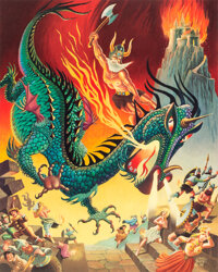 """""""King Beowulf"""" Carl Barks Signed and Remarqued Limited Edition Print Artist's Proof #AP8/50 (Carl Barks, 1980)..."""