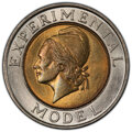 (1997-8) Schuler Bimetallic Test Piece MS66 PCGS. Copper-nickel ring with brass insert. Plain edge. Produced by Schuler...