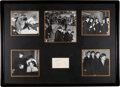 Music Memorabilia:Autographs and Signed Items, The Beatles Signed Card Held in Matted Display. ...