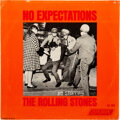 """Movie/TV Memorabilia:Recordings, The Rolling Stones """"Street Fighting Man""""/""""No Expectations"""" Withdrawn US Picture Sleeve With Vinyl (London, 45-909). ..."""