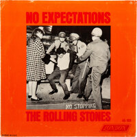 """The Rolling Stones """"Street Fighting Man""""/""""No Expectations"""" Withdrawn US Picture Sleeve With Vinyl (L..."""