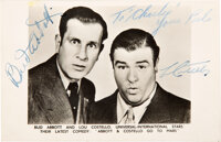 Abbott and Costello Signed Photo Card