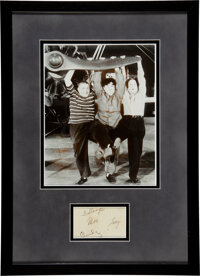 The Three Stooges Moe, Larry and Curly Clipped Signatures (circa 1940s-1950s)