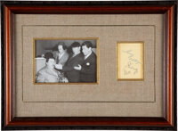 The Three Stooges Moe, Larry, and Shemp Clipped Signatures (Circa 1940s-1950s)