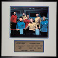 Movie/TV Memorabilia:Autographs and Signed Items, Star Trek: The Original Series Cast Signed Limited Edition Photograph and Display (DesiLu,1966-1969/sig...