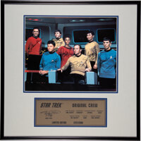 Star Trek: The Original Series Cast Signed Limited Edition Photo Print In Frame