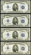 Small Size:Silver Certificates, Fr. 1651 $5 1934A Silver Certificates. G-A, I-A, J-A, and ...