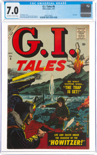 G. I. Tales #6 (Atlas, 1957) CGC FN/VF 7.0 Off-white to white pages