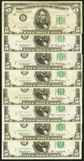 Small Size:Federal Reserve Notes, $5 Federal Reserve Notes. Fr. 1961-L 1950 Wi...