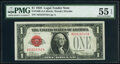 Small Size:Legal Tender Notes, Fr. 1500 $1 1928 Legal Tender Note. PMG About Uncirculated 55 EPQ.. ...