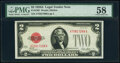 Fr. 1502 $2 1928A Legal Tender Note. PMG Choice About Unc 58