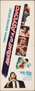 """Movie Posters:Crime, Anatomy of a Psycho (Unitel, 1961). Rolled, Very Fine. Inserts (2) (14"""" X 36"""") & Poster (30"""" X 40""""). Crime.. ... (Total: 3 Items)"""