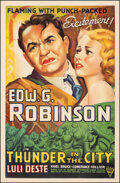 """Movie Posters:Drama, Thunder in the City (Astor, R-1940s). Fine on Linen. One Sheet (27"""" X 41.5""""). Drama.. ..."""