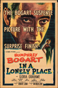 """Movie Posters:Film Noir, In a Lonely Place (Columbia, 1950). Folded, Fine-. One Sheet (27"""" X 41""""). Film Noir.. ..."""